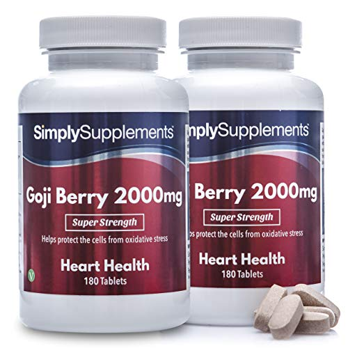 Goji Berry Extract 2000mg | 2X 180 Tablets | Super Strength | Vegan & Vegetarian Friendly | Manufactured in The UK