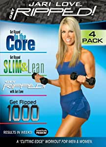 Jari Love: Get Ripped 4-Pack, Includes Get Ripped, Ripped to the Core, Ripped 1000, Slim & Lean