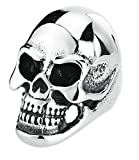 Epinki Stainless Steel Mens Punk Smooth Knuckle Paver Skull Huge Rings Us Size 10 Ring
