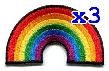 Gay Pride Lesbian Rainbow Flag Retro Love LGBT Appliques Hat Cap Polo Backpack Clothing Jacket Shirt DIY Embroidered Iron On//Sew On Patch
