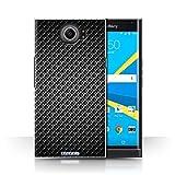 STUFF4 Phone Case / Cover for BlackBerry Priv / Grey Design / Carbon Fibre Effect/Pattern Collection