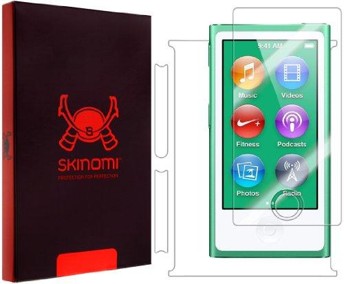 iPod Nano 7 Screen Protector + Full Body (7th Gen), Skinomi TechSkin Full Coverage Skin + Screen Protector for iPod Nano 7 Front & Back Clear HD Film
