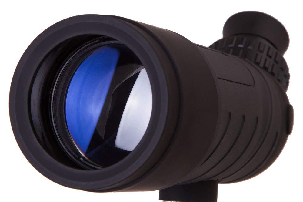 Levenhuk Blaze Base 50F Portable Spotting Scope with BK7 Glass Optics, Metal Table Tripod and Case by Levenhuk