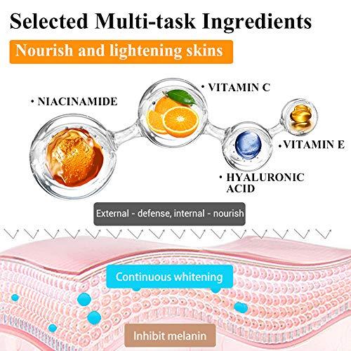 51oG8rJCvKL - Vitamin C Serum for Face and Skin - With Hyaluronic Acid, Niacinamide, Retinol - Natural Anti Aging, Anti Wrinkle Serum for Skin Brightening and Moisturizing - 1.37 Fl. Oz