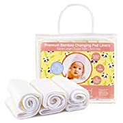 Baby Diaper Changing Pad Liners: [3 Pack] Large Waterproof Washable Table Liner