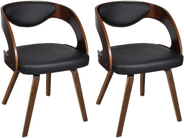 chaise salle a manger cuir et bois vidaxl