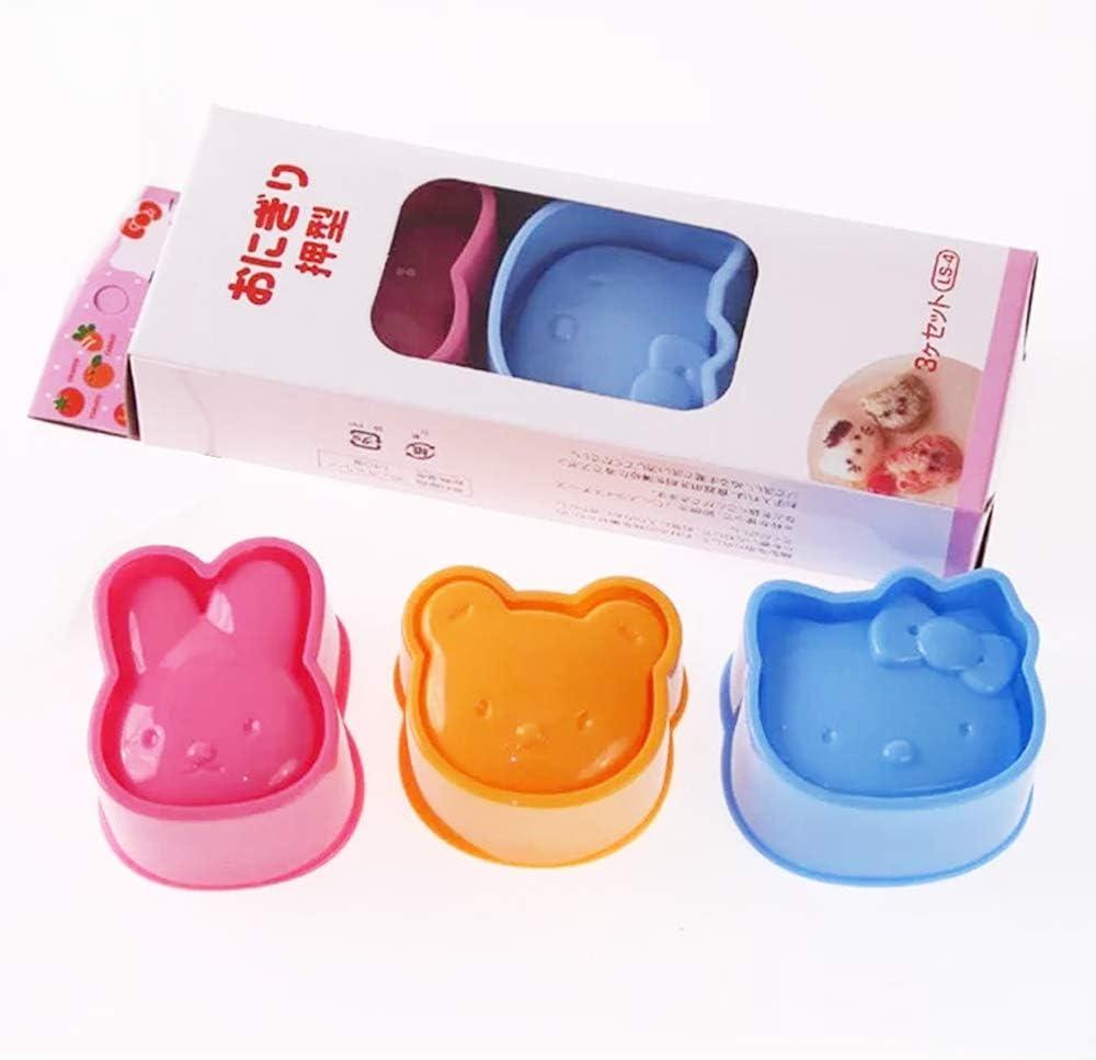 TangTanger DIY Picnic Kitchen Animal Mold Rice Mold Shaper Bento Accessories (Set 3)