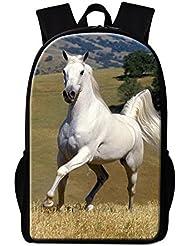 Dispalang Horse Backpack for Children Cool Animal Back to School Backpack for Girls Boys Day Pack