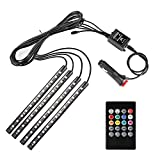 Multi-color Car Interior Music LED Strap Light Underdash Lighting Kit with Sound Active Function and Remote Control