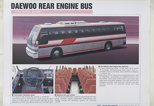 1988 Daewoo BH120H Rear Engine Tour Bus Brochure (Bus Engine Rear)