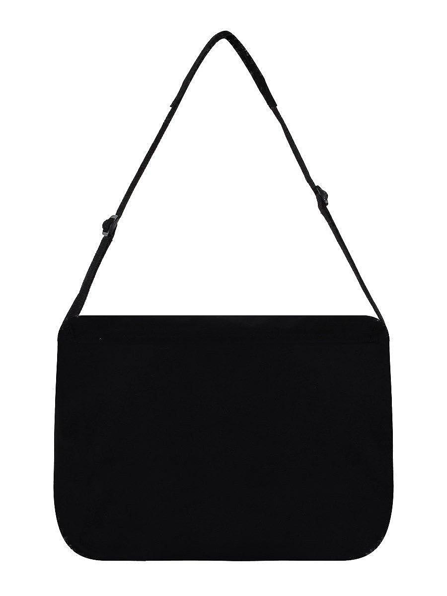 Koffer, Taschen & Accessoires Messenger Bag Totenkopf Pentagramm Schwarz 38x33x11cm