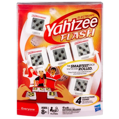 Yahtzee Electronic Flash Cubes - The Smartest Dice You'ce Ever Rolled (AGES 8 AND UP)