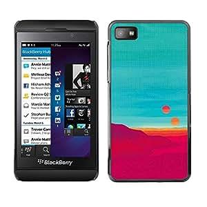 Be Good Phone Accessory // Dura Cáscara cubierta Protectora Caso Carcasa Funda de Protección para Blackberry Z10 // Red Desert Alien Planet Suns Sci-Fi Fiction