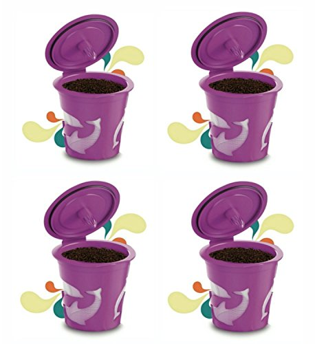 Best Ever Reusable K Cup (Set of 4) for Keurig 2.0 - K200, K300, K400, K500 Series. Perfectly designed premium quality 4 Reusable K Cups from Best In All