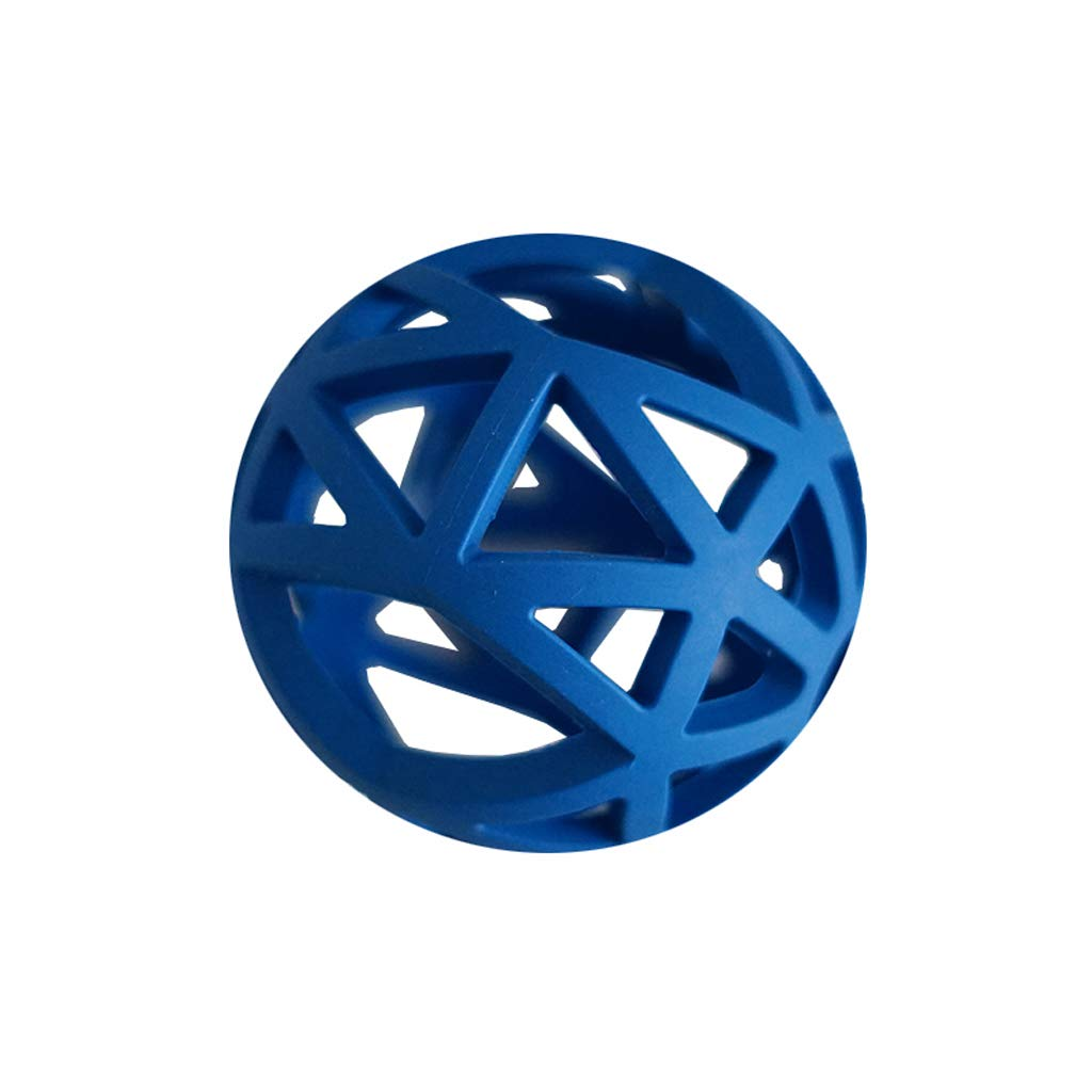 bluee 12.5CM bluee 12.5CM Jia He Pet Stairs Dog Toy Bite Resistance Molar Training Hollow Ball Safe and Non-Toxic Large, Medium and Small Dog Dental Products Pet Toy Pet Supplies @@ (color   bluee, Size   12.5CM)
