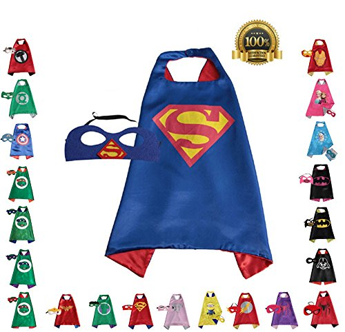 Super hero Cape and Mask, Children, Boys, Girls Dress Up Costume (Boys Dress Up Ideas)