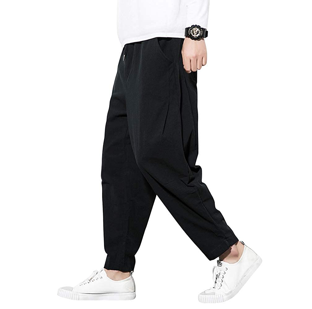 Amazon.com: KIKIGOAL Parachute Harem Chinese Pants - Kung Fu ...