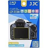 JJC - Pellicola per protezione schermo Nikon D3200, D3300, anti riflesso, confezione da 2 pezzi