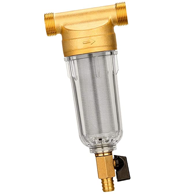 Pre-filtro per Purificatore di Acqua Minifiltro Pulente P PRETTYIA Prefiltro Acqua Pompe Filtro in Rame
