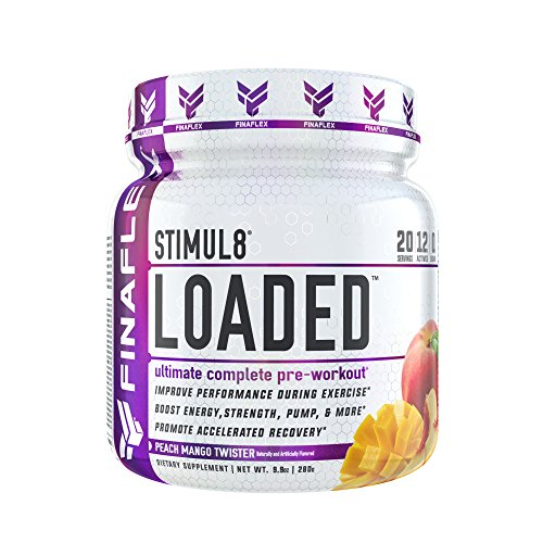 STIMUL8 Loaded, Ultimate Complete Pre-Workout, Improve Performance During Exercise, Boost Energy, Strength, Pump, Promote Accelerated Recovery, for Men & Women, 20 Servings (Peach Mango Twister)