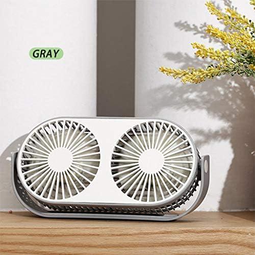 A69Q卓上扇風機 手持ち扇風機 ハンドファン 携帯扇風機 USB充電ファン ポータブルファン デスクトップファン ミニファン ミニ扇風機 アウトドアファン おしゃれ かわいいファン 360度回転 デスクトップ冷却ファン ダブルファン 多機能ファン 静音 熱中症対策 寝室/家庭/オフィス/アウトドア/旅行に適用 (グレー)