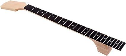 Healifty - Teclado para guitarra, 22 teclas, teclado de repuesto de madera para bajo eléctrico, guitarra eléctrica: Amazon.es: Instrumentos musicales