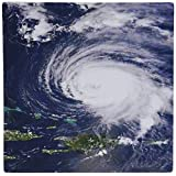 3dRose LLC 8 x 8 x 0.25 Inches Mouse Pad, Image of Hurricane Aerial View (mp_163612_1)