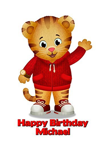 Daniel Tiger's Image Photo Cake Topper Sheet Personalized Custom Customized Birthday Party - 1/4 Sheet - 76833