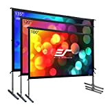 Elite Screens Yard Master 2, 135-inch 16:9, 4K Ultra HD Ready Portable Foldaway Movie Theater Projector Screen, Front Projection - OMS135H2
