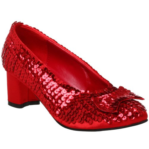 Dorothy Halloween Shoes (Dorothy-01 Dorothy Halloween Costume Shoes Red and Silver Sequin (13 W US, Red Sequins) (Size 13))