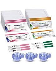 50 Pruebas de Ovulación ultrasensibles (20mlU/ml) y 20 Tests de Embarazo de alta sensibilidad (10mlU/ml) - Formato 5 MM, Kits de Tests de Ovulación y Fertilidad - 70 Taza de orina