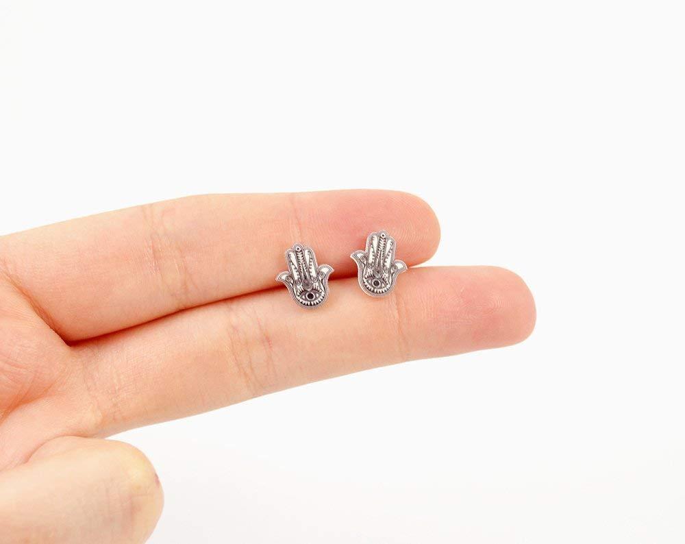 Handmade Hamsa Stud Earrings