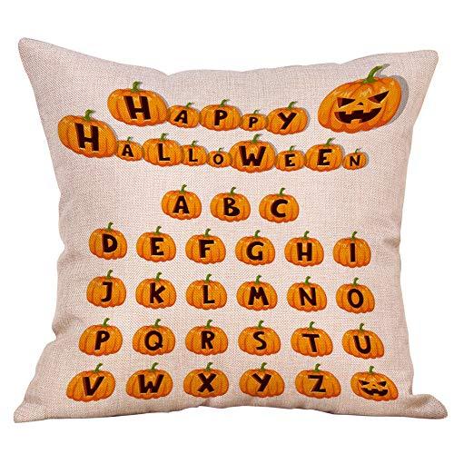 WFeieig_Halloween Velvet Soft Soild Decorative Square Throw Pillow Covers Set Cushion Case for Sofa Bedroom Car]()