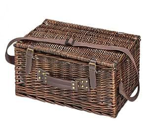 Cilio 155259 Varese Cesta de picnic marrón oscuro 4 personas
