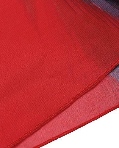 BIUBIU Women's Boho Chiffon Halter Summer Beach Party Cover up Dress Red L by BIUBIU (Image #5)