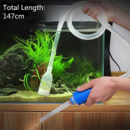 (LIShuai Aquarium Manual Cleaner Tool Siphon Gravel Suction Pipe Water Vacuum (Multi-Color,57.87