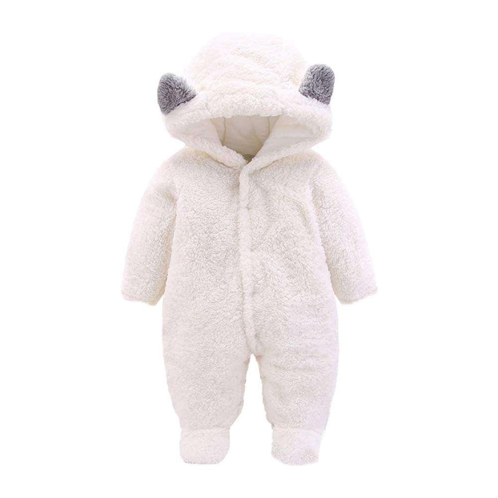 Amazon.com: WUAI Newborn Baby Boy Girl Hoodie Fleece Pram Snowsuit ...