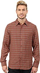 Royal Robbins Hemlock Herringbone LS Shirt - Men's Fatigue Green Small