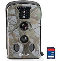 Bestok Trial and Game Cam PIR Sensor and Water Protected IP54 HD Wireless Battery Operated Trail Hunting Cameras with 2.4 Inches Color Screen