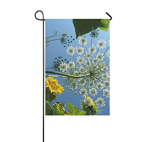 YPink Home Decorative Outdoor Double Sided Umbel Flower Carr