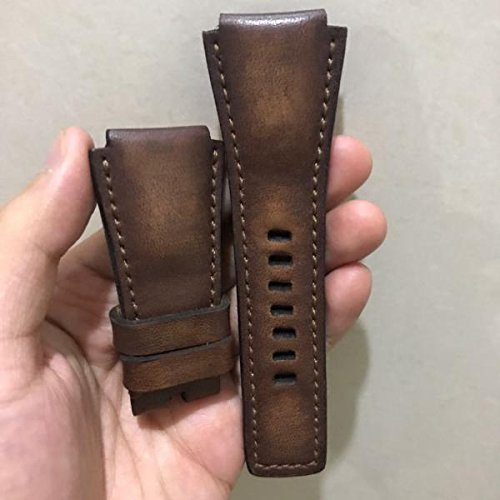 Custom Handmade Premium Calf Leather Watch Band for BR Bell and Ross Gunny Straps - Chunky Bar by Gunny Store