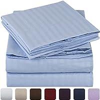 Mellanni Striped Bed Sheet Set - HIGHEST QUALITY Brushed...