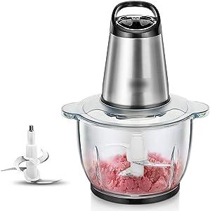 TJLbb Stainless Steel Meat Grinder - Household Electric Cooking Stir Garlic Garlic Grinder Small