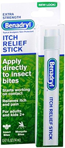Benadryl Itch Stk Size 4.7z Benadryl Extra Strength Itch Relief Stick,4 Pack