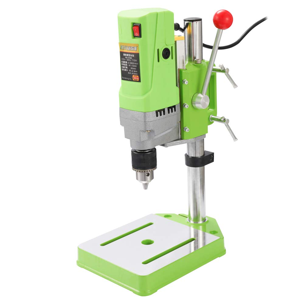 KKmoon Mini Home DIY Metalworking 710W Drilling Machine Electric Work Gear Portable High Accuracy Bench Drill BG-5156E