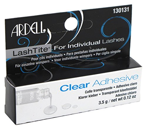 Ardell Lashtite Adhesive Clear 0.125 Ounce Bottle (Black Package) (3.7ml) 0.125 Ounce Bottle