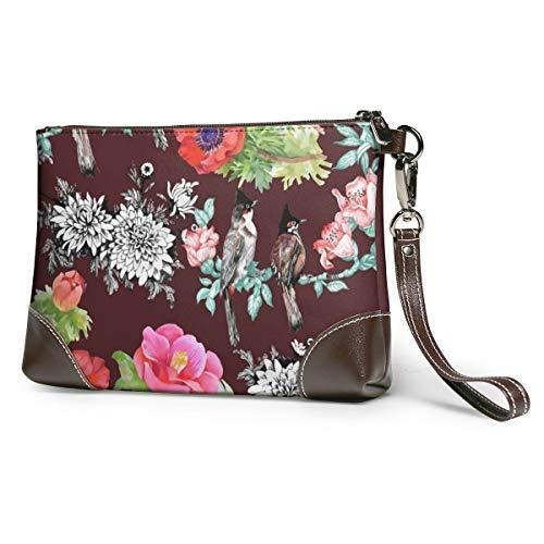 Flowers Birds Leather...