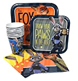 Disney Zootopia Value Pack Birthday Party for 8 guests ( Plates, Cups, Napkins)