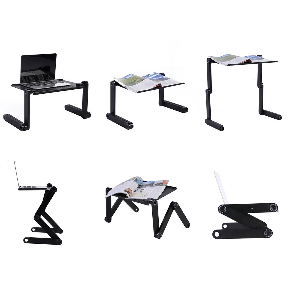Adjustable Laptop Stand Desk for Bed, Portable Foldable Laptop Standing Table Mount for PC Notebook Mackbook Pro HP