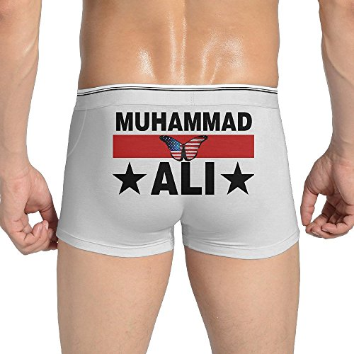 Clay Ortiz White (Men's Underwear Usa Butterfly Flag Boxing Champion Ali Low-Rise Briefs)